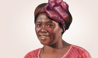 An illustration of Wangari Maathai.