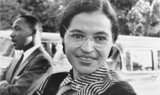 Photograph of Rosa Parks.