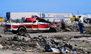 Truck Wrecked in Tornado