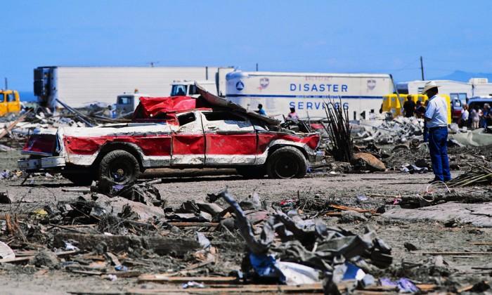 Truck Wrecked in Tornado