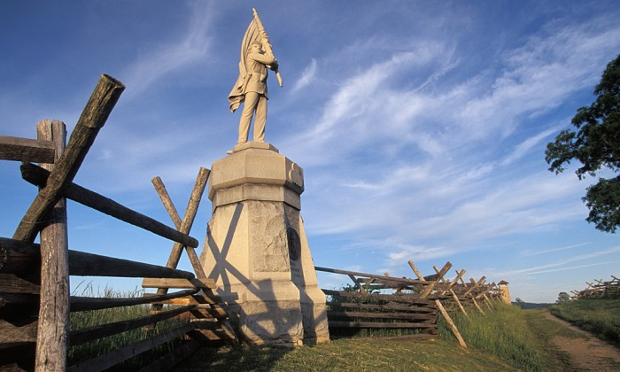 132nd Pennsylvania Volunteer Infantry Monument, Bloody Lane (Sunken Road), in the Antietam Civil War battlefield in Sharpsburg, Maryland