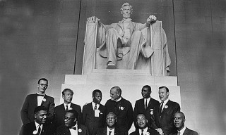 leaders Civil Rights March Lincoln Memorial People Places Adult Males Famous People Monuments Memorials and Cemeteries