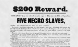 Reward poster for runaway slaves