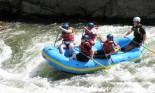 Group of people whitewater rafting in Colorado