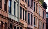 Brownstones in a line