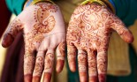 Henna tattoo mehndi hand art in India