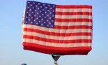 American flag hot air balloon