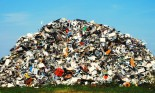 Pile of metallic waste