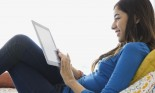 teenage girl with tablet