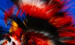 Blur of Native American Costume