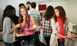 Group of high school students in a cafeteria