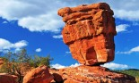 Balanced Rock, a natural geological phenomenon found at the Garden of the Gods, Colorado Springs, Colorado