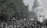 Crowd of people in Washington, D.C.