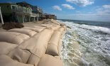 sandbags on coastline
