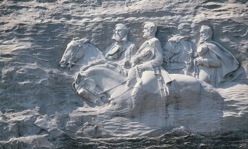 Confederate Civil War Memorial carving, Stone Mountain Park, Georgia