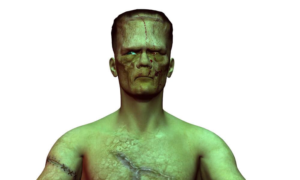 3D rendering of Frankenstein's monster
