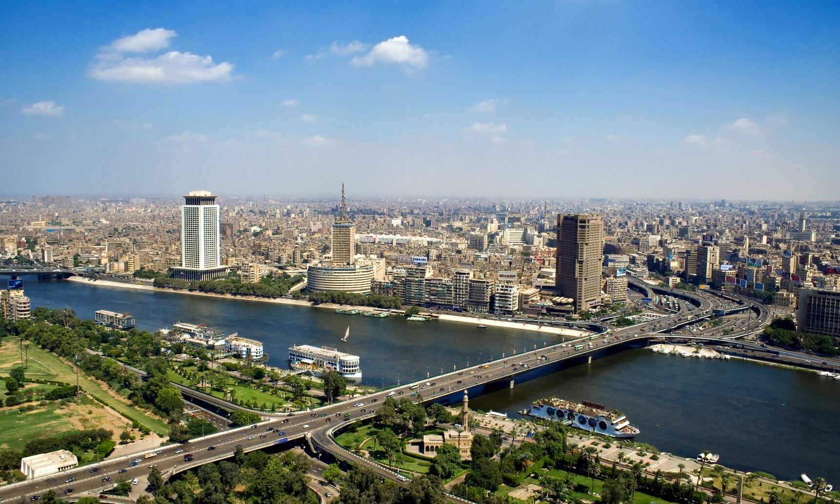 Overlooking Cairo from TV tower, Egypt