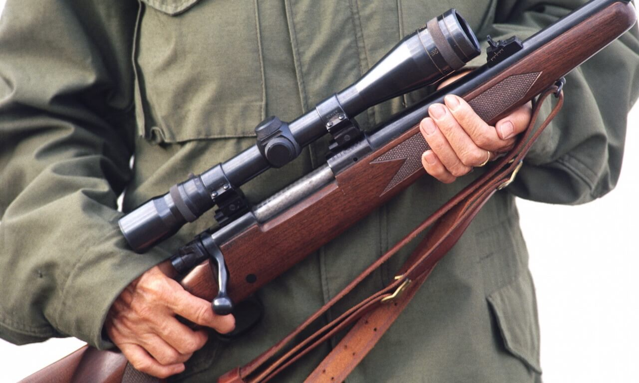 Militia Member Holding a Rifle