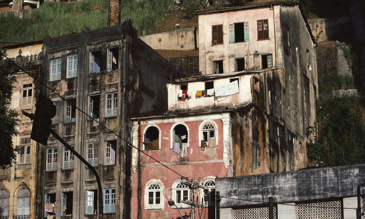 Tenement buildings in Brazil, South America