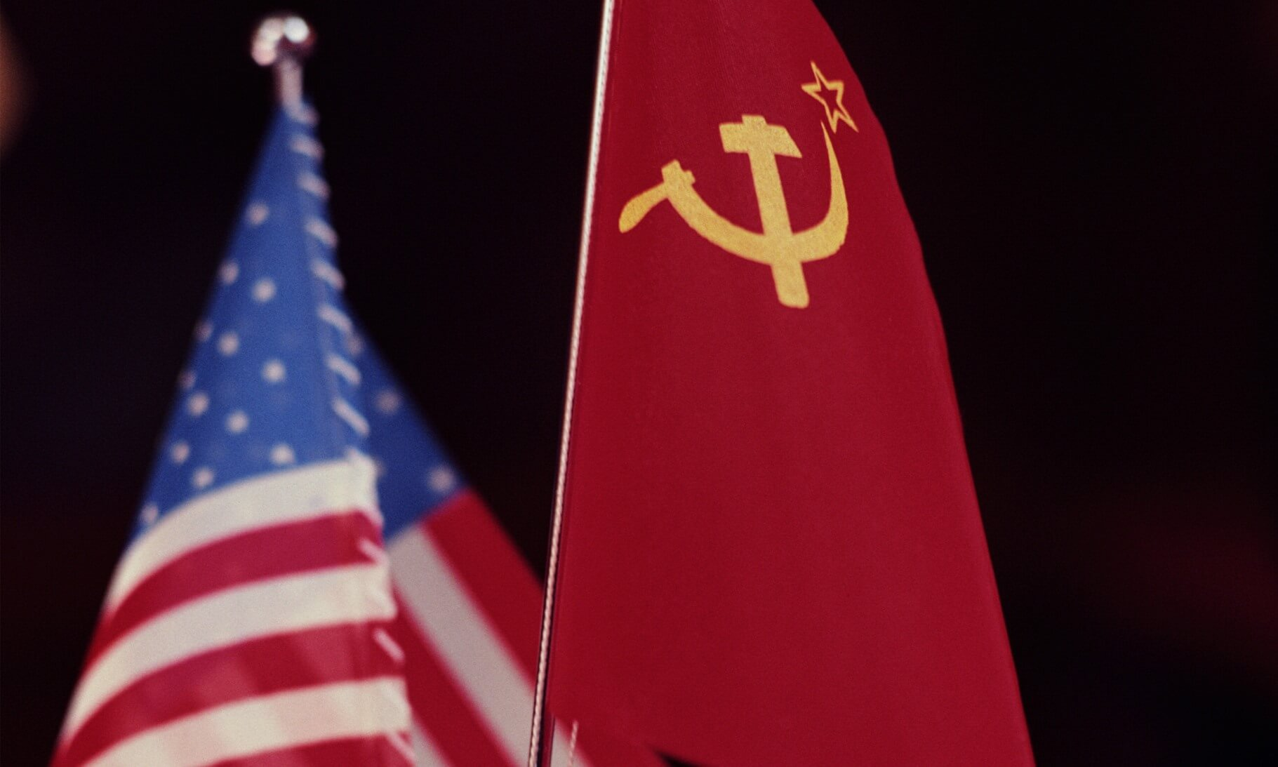 Soviet Union and United States flags