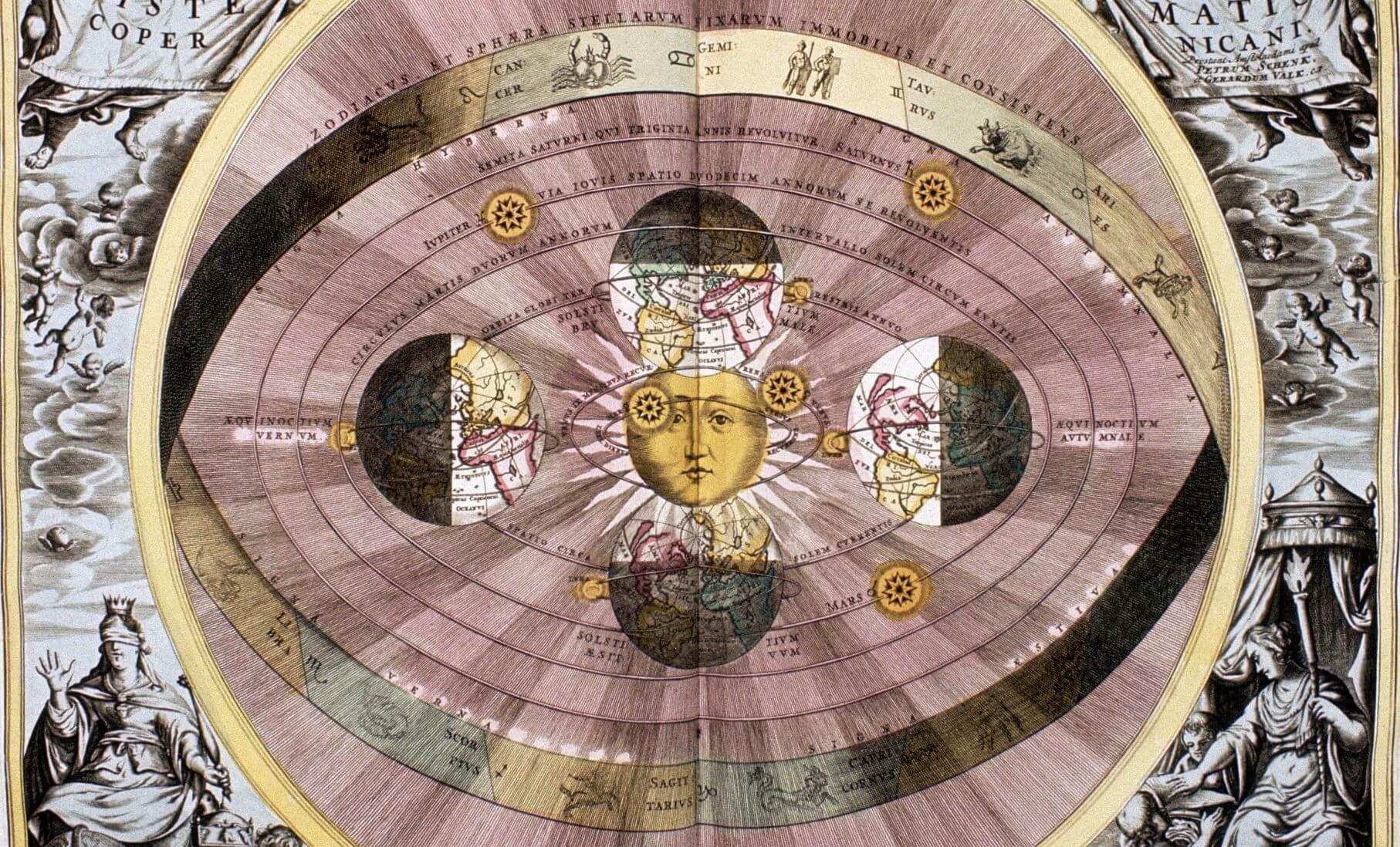 Copernican diagram of universe