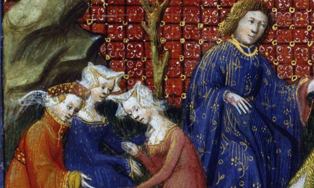 Detail of medieval manuscript art