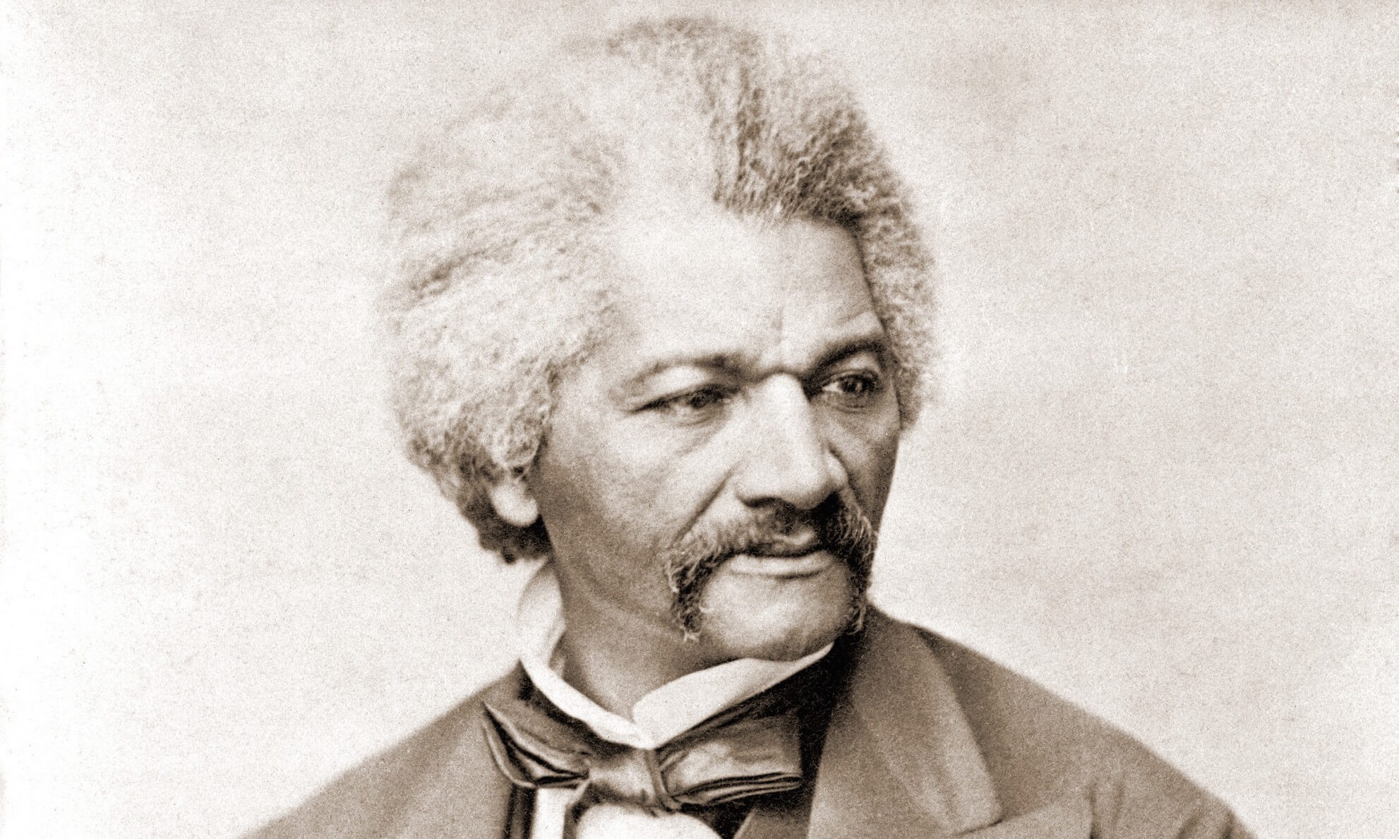Frederick Douglass (1818-1895), former slave and abolitionist who broke stereotypes about African Americans in the decades prior to the U.S. Civil War. 1855 portrait