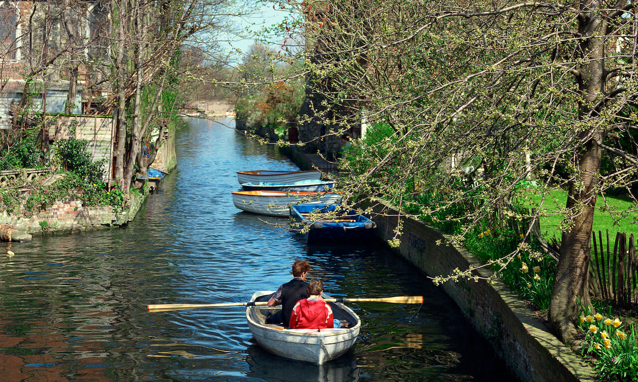 River Great Stour through Canterbury, England