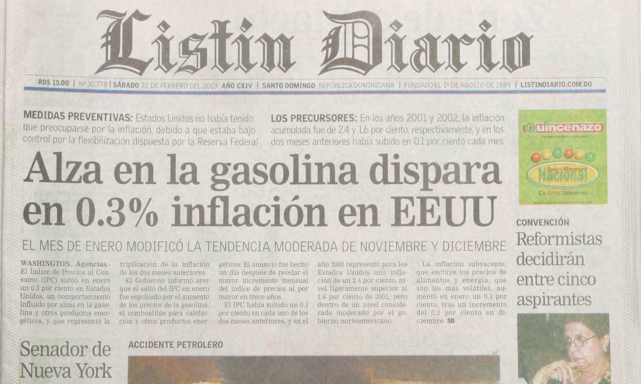 The front page view of a Spanish newspaper