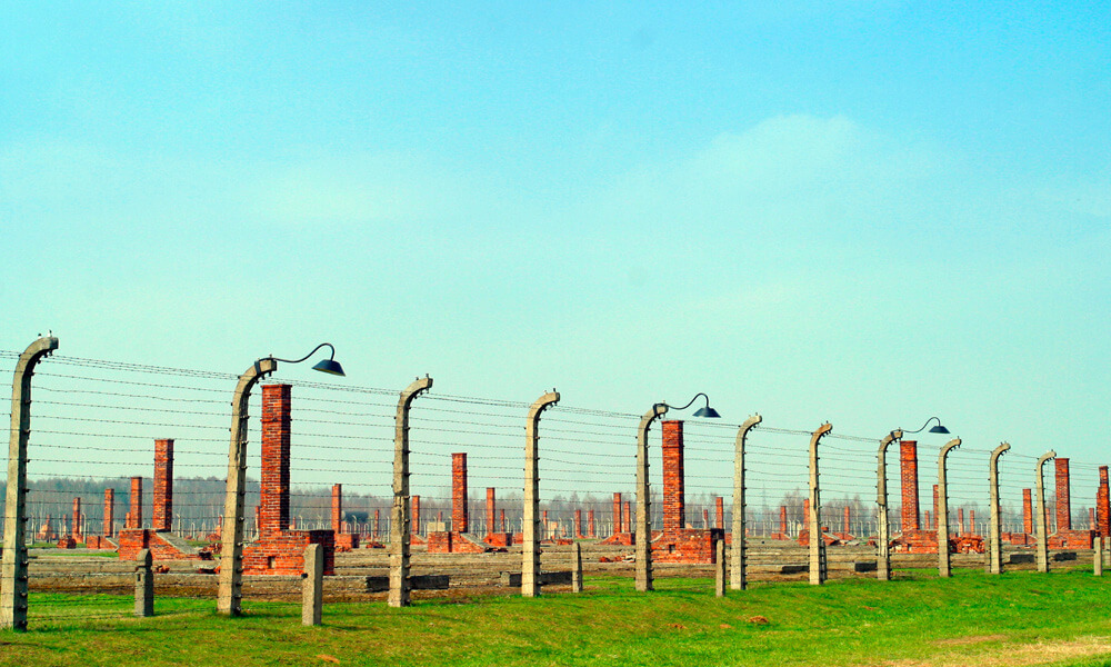 The Auschwitz concentration camp in Oswiecim, Poland