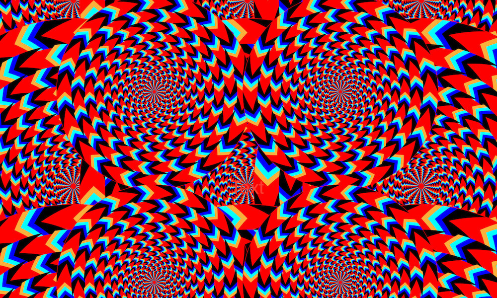 Optical illusion: Rotating circles