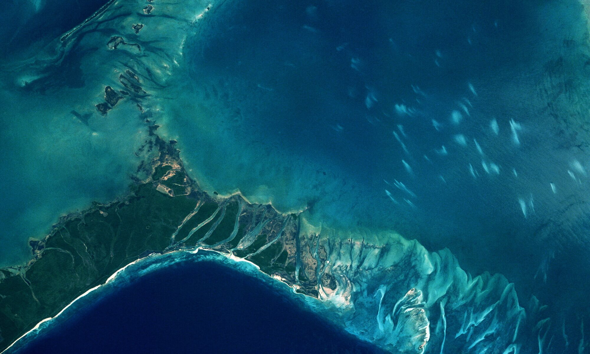 Grand Bahama and Little Bahama Bank Seen from Space