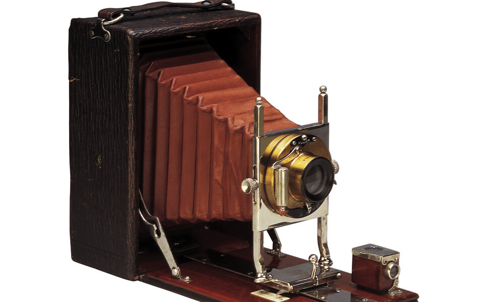 Antique camera with bellows