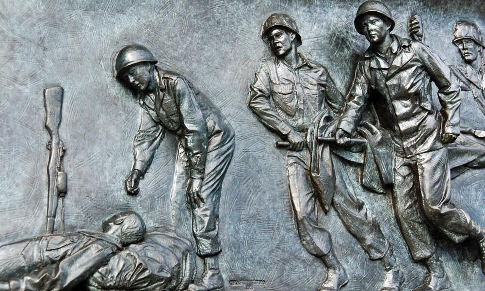 Detail of World War II Memorial