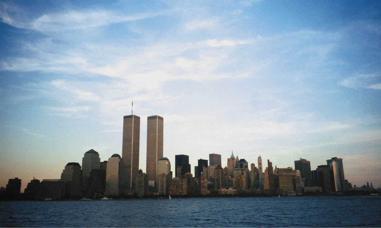 New York City skyline with World Trade Center