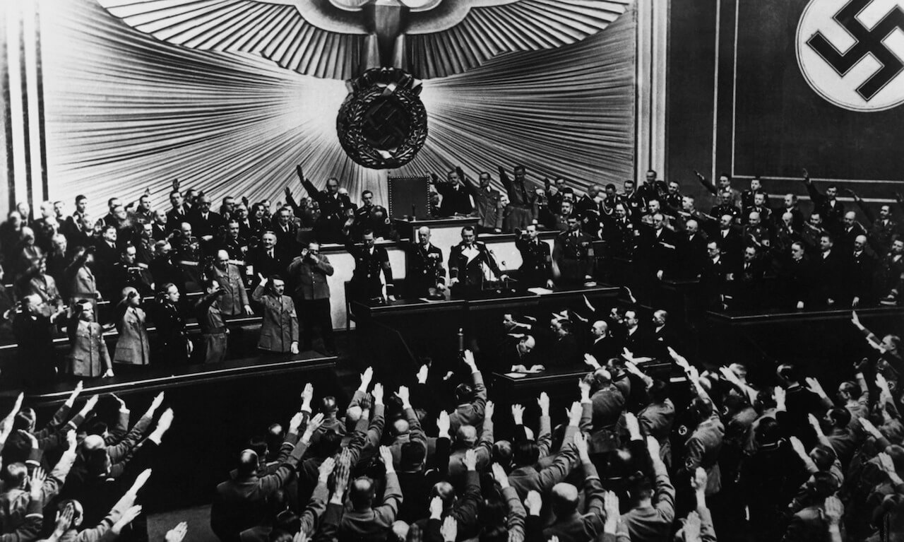 Ovation for Hitler at Reichstag