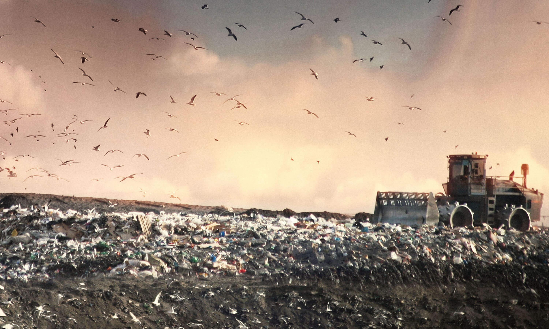 Landfill at dusk