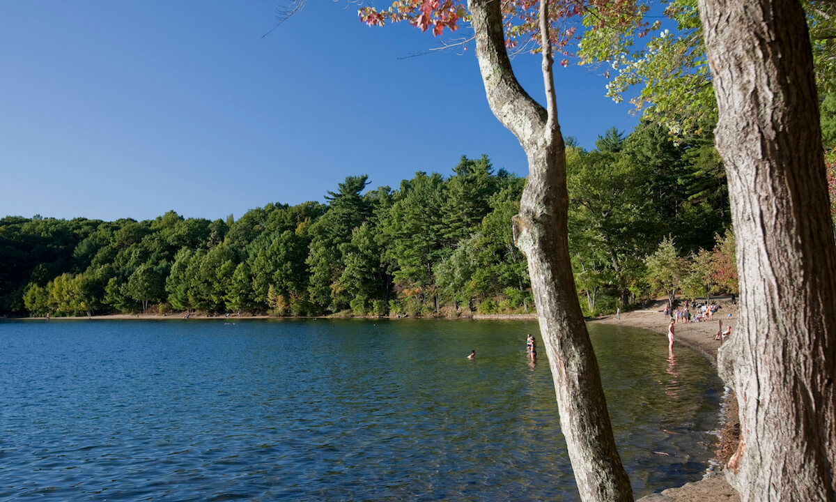 Walden Pond, where Henry David Thoreau wrote and lived