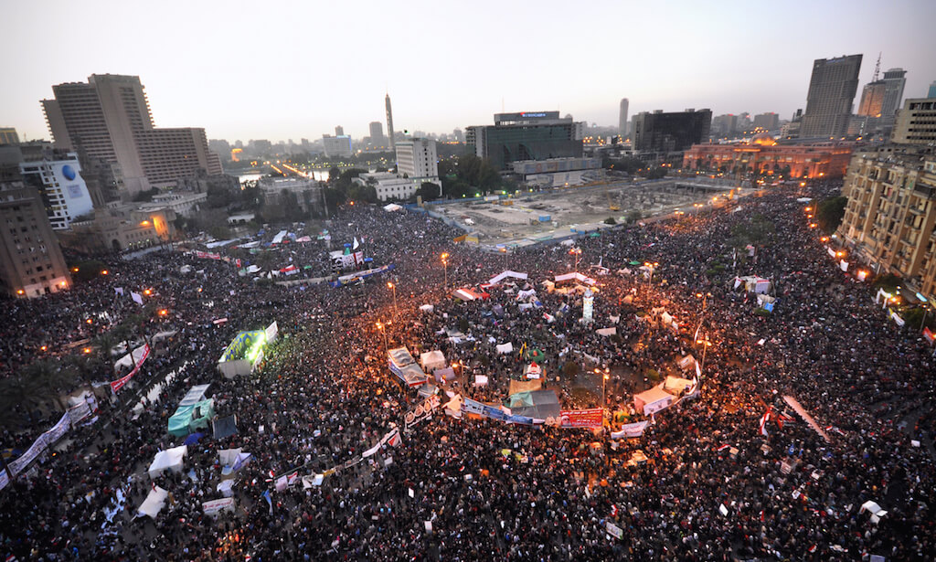 Tahrir Square, Cairo, Egypt, January 25, 2012, the first anniversary of the Egyptian revolution