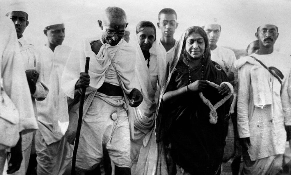 Mahatma Gandhi and followers