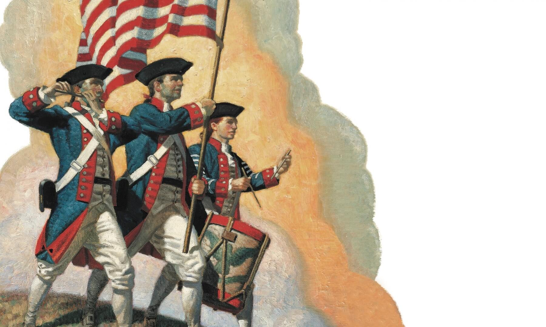 Yankee doodle poster with three soldiers