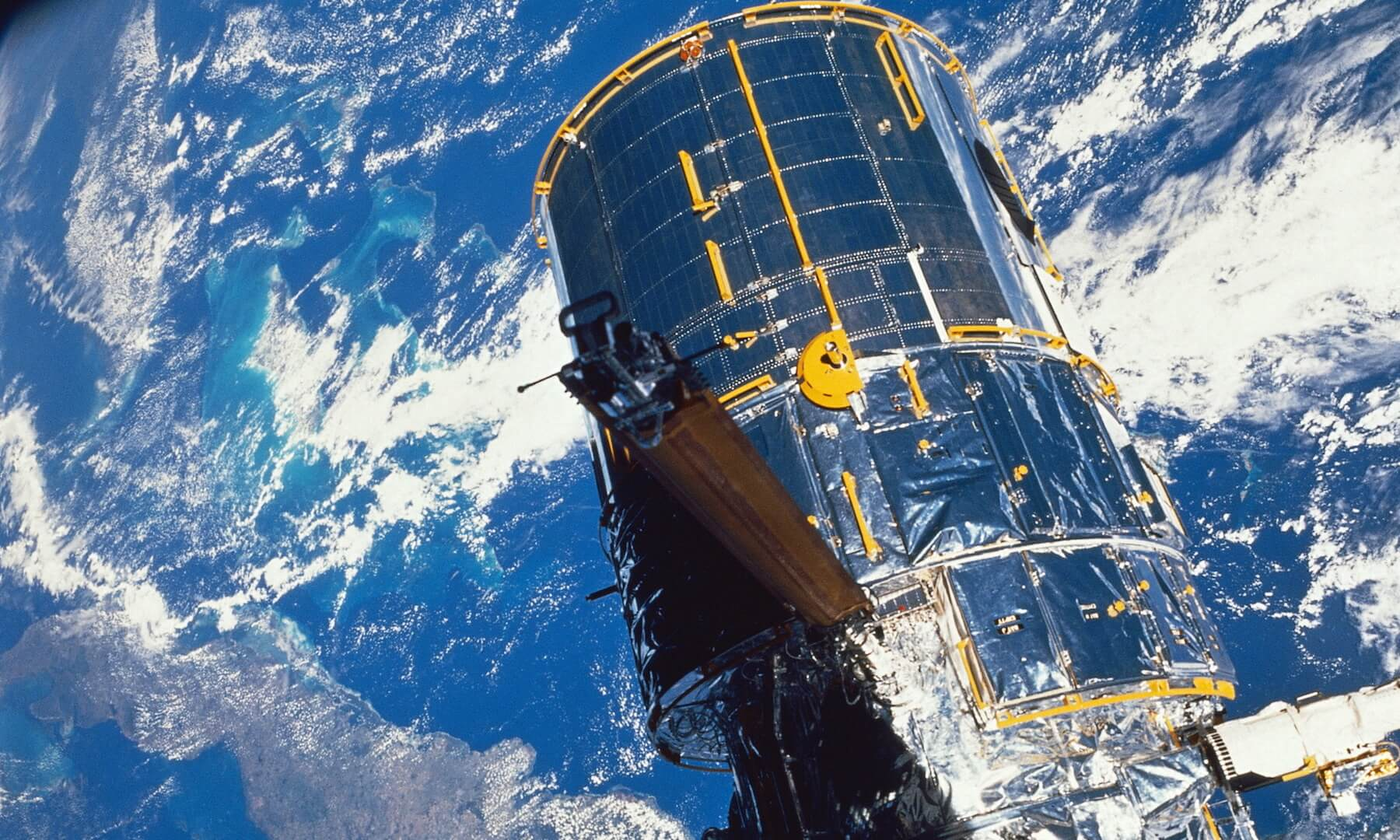 Hubble Space Telescope Over the Earth