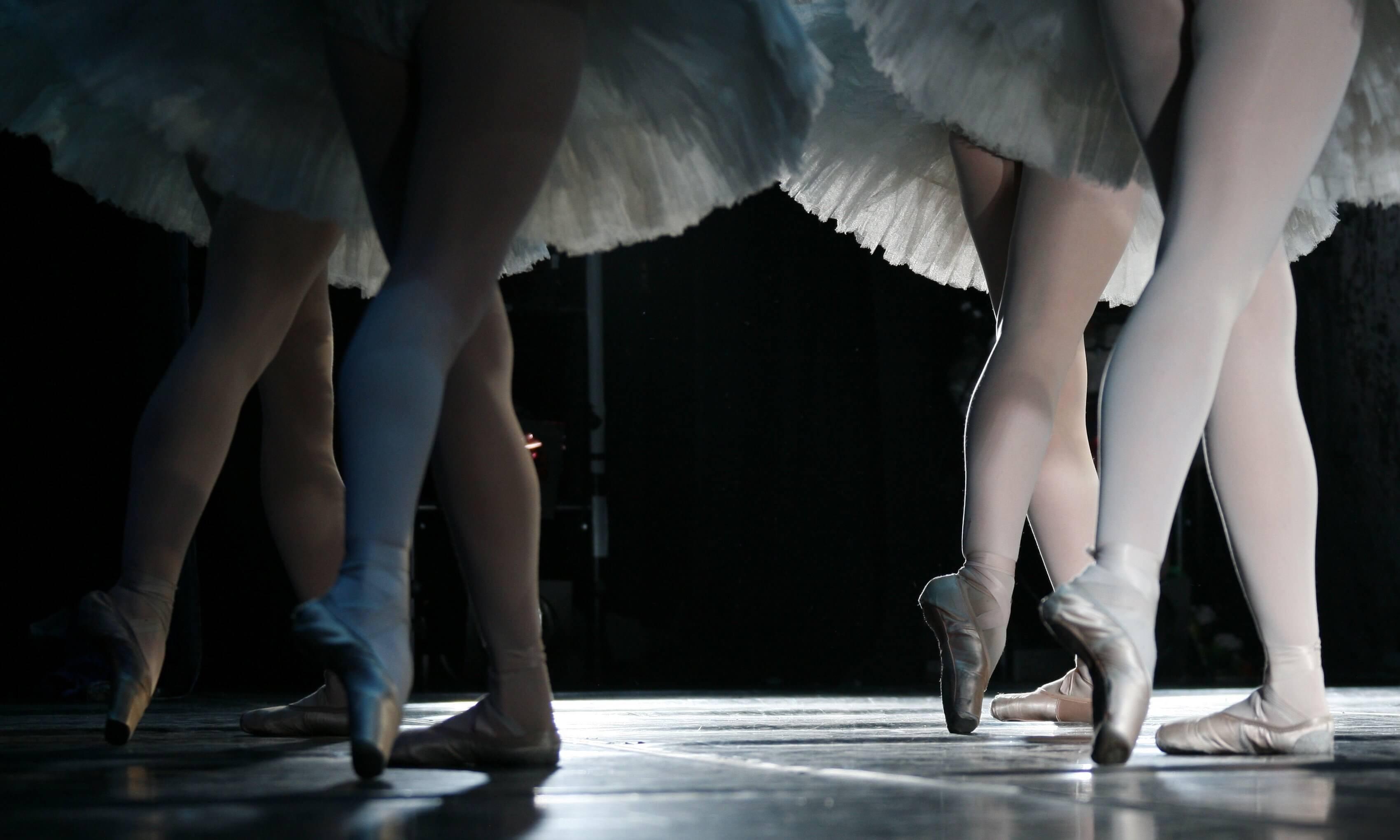 Ballerina legs during a dance