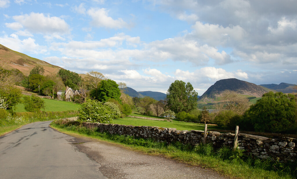 Spring in the English countryside, Cumbria, Lake District