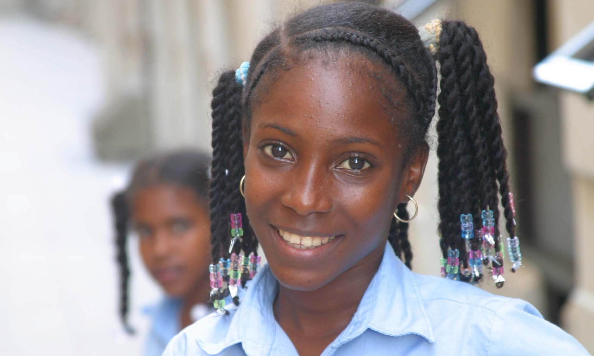 Portrait of a girl in the Dominican Republic