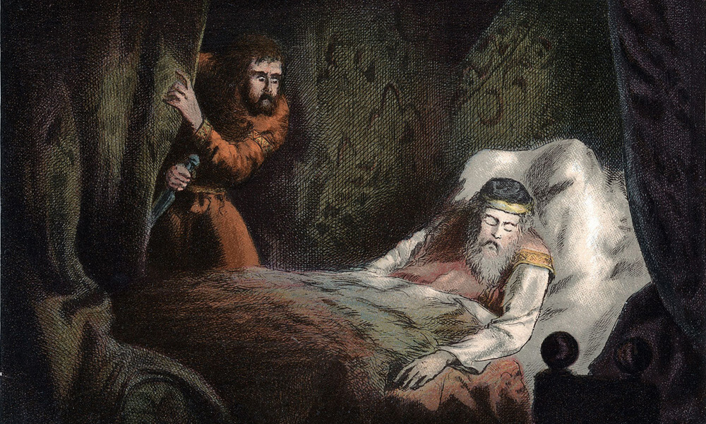 Illustration of a scene from Macbeth