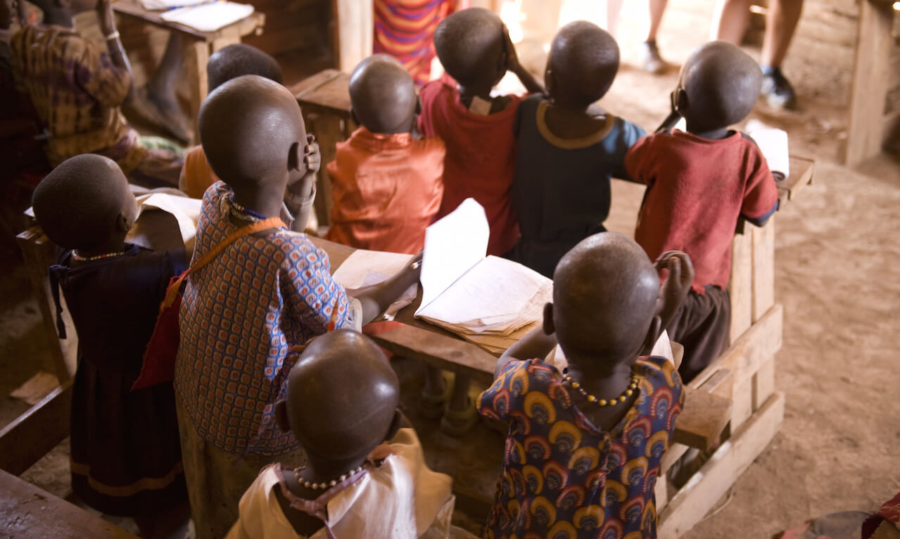 Maasai children at school