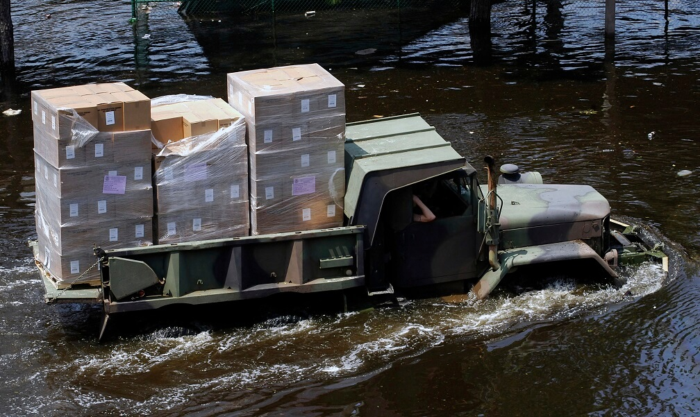 Department of Defense (DoD) units mobilized as part of Joint Task Force (JTF) Katrina to support the Federal Emergency Management Agency's (FEMA) disaster-relief efforts in the Gulf Coast areas devastated by Hurricane Katrina.