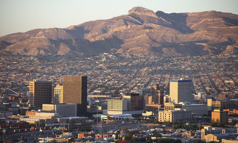 City and landscape of El Paso, TX