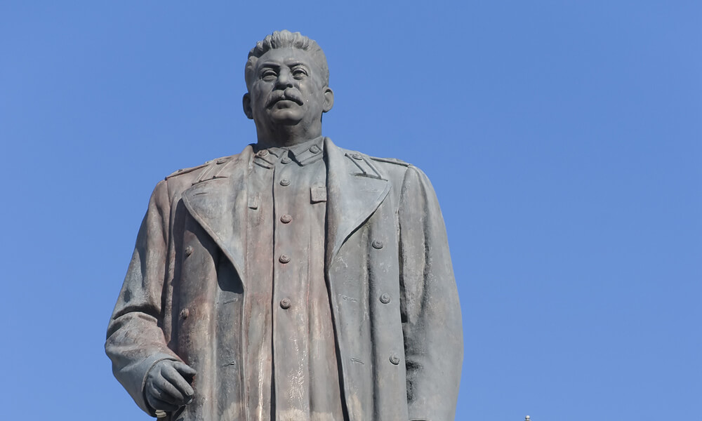 Statue of Stalin in Gori, Georgia (Stalin's birthplace)